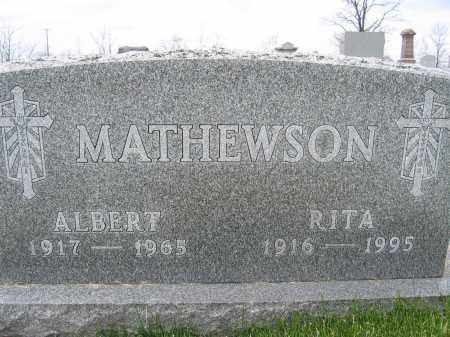 MATHEWSON, ALBERT - Union County, Ohio | ALBERT MATHEWSON - Ohio Gravestone Photos