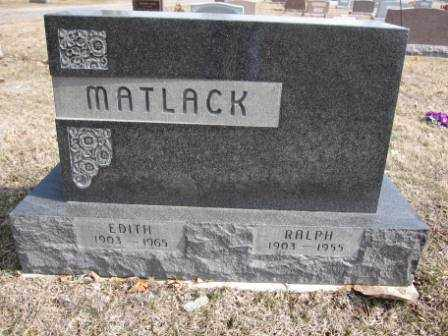 MATLACK, RALPH - Union County, Ohio | RALPH MATLACK - Ohio Gravestone Photos