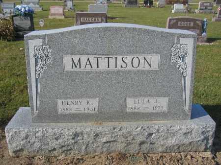 MATTISON, HENRY K. - Union County, Ohio | HENRY K. MATTISON - Ohio Gravestone Photos