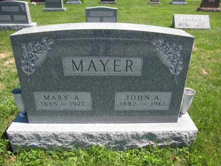MAYER, MARY A. - Union County, Ohio | MARY A. MAYER - Ohio Gravestone Photos