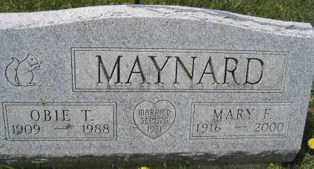 MAYNARD, OBIE T. - Union County, Ohio | OBIE T. MAYNARD - Ohio Gravestone Photos