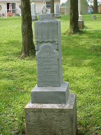 MCADAMS, JOSIAH - Union County, Ohio | JOSIAH MCADAMS - Ohio Gravestone Photos