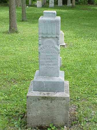 MCADAMS, MARY ANN - Union County, Ohio | MARY ANN MCADAMS - Ohio Gravestone Photos