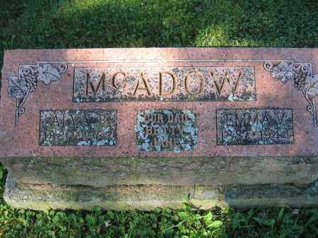 MCADOW, EMMA V. - Union County, Ohio | EMMA V. MCADOW - Ohio Gravestone Photos