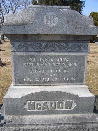 MCADOW, ELIZABETH CLARK - Union County, Ohio | ELIZABETH CLARK MCADOW - Ohio Gravestone Photos