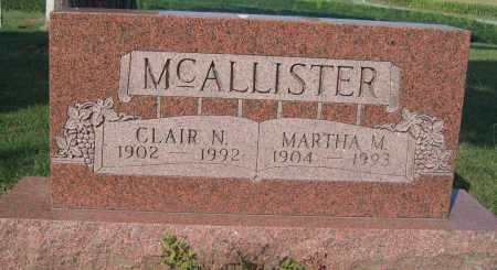 MCALLISTER, CLAIR N. - Union County, Ohio | CLAIR N. MCALLISTER - Ohio Gravestone Photos