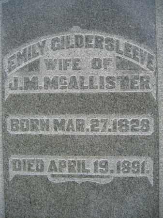 GILDERSLEEVE MCALLISTER, EMILY - Union County, Ohio | EMILY GILDERSLEEVE MCALLISTER - Ohio Gravestone Photos