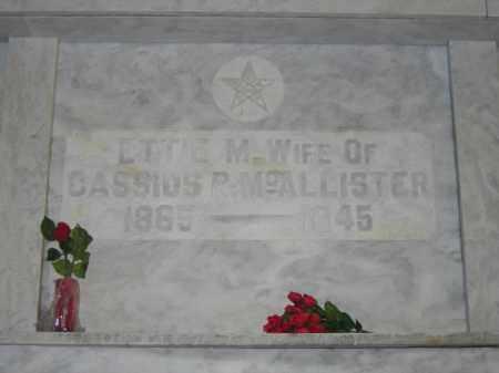 MCALLISTER, ETTE M. - Union County, Ohio | ETTE M. MCALLISTER - Ohio Gravestone Photos