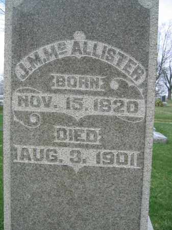 MCALLISTER, JESSE M. - Union County, Ohio | JESSE M. MCALLISTER - Ohio Gravestone Photos