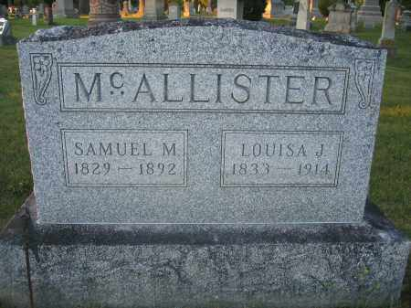 MCALLISTER, LOUISE J. - Union County, Ohio | LOUISE J. MCALLISTER - Ohio Gravestone Photos