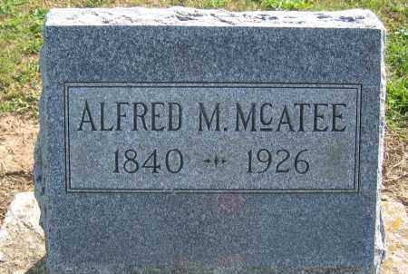 MCATEE, ALFRED M. - Union County, Ohio | ALFRED M. MCATEE - Ohio Gravestone Photos
