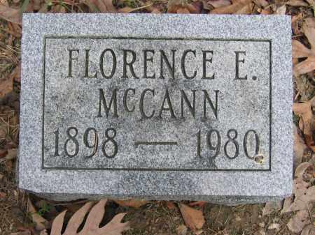 MCCANN, FLORENCE E. - Union County, Ohio | FLORENCE E. MCCANN - Ohio Gravestone Photos