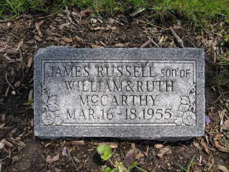 MCCARTHY, JAMES RUSSELL - Union County, Ohio | JAMES RUSSELL MCCARTHY - Ohio Gravestone Photos