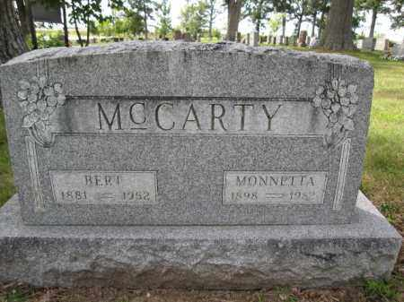 MCCARTY, MONNETTA - Union County, Ohio | MONNETTA MCCARTY - Ohio Gravestone Photos