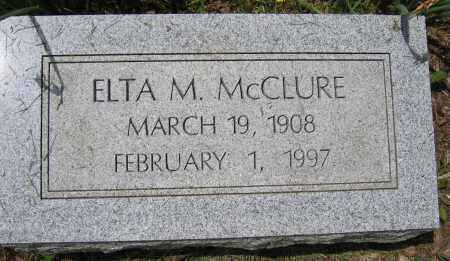 MCCLURE, ELTA M. - Union County, Ohio | ELTA M. MCCLURE - Ohio Gravestone Photos
