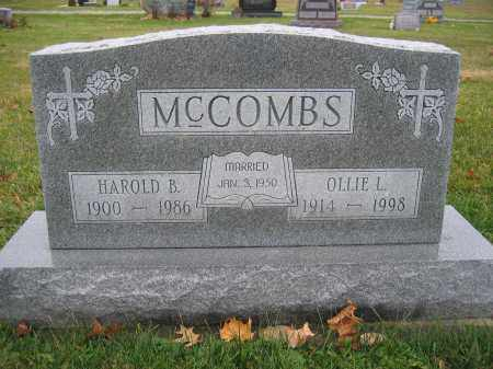 MCCOMBS, HAROLD B. - Union County, Ohio | HAROLD B. MCCOMBS - Ohio Gravestone Photos