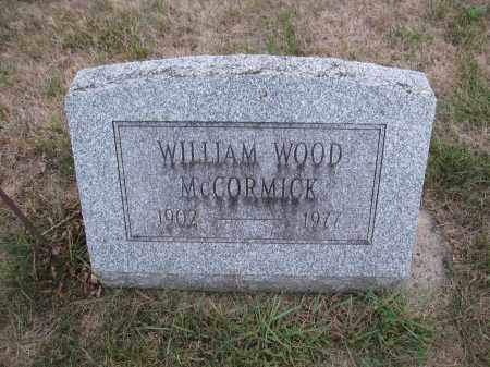 MCCORMICK, WILLIAM WOOD - Union County, Ohio | WILLIAM WOOD MCCORMICK - Ohio Gravestone Photos