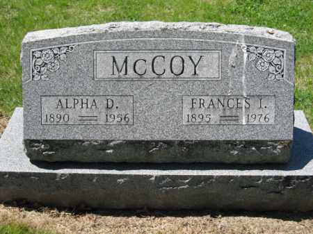MCCOY, ALPHA D. - Union County, Ohio | ALPHA D. MCCOY - Ohio Gravestone Photos