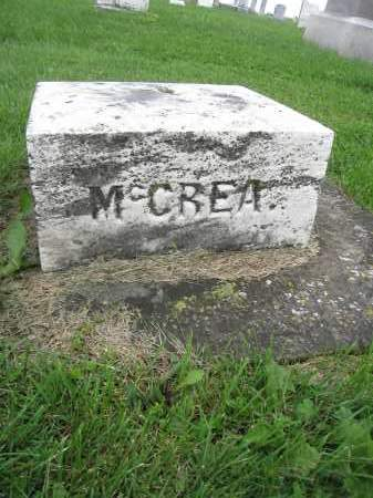 MCCREA, UNKNOWN - Union County, Ohio | UNKNOWN MCCREA - Ohio Gravestone Photos