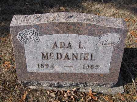 MCDANIEL, ADA L. - Union County, Ohio | ADA L. MCDANIEL - Ohio Gravestone Photos