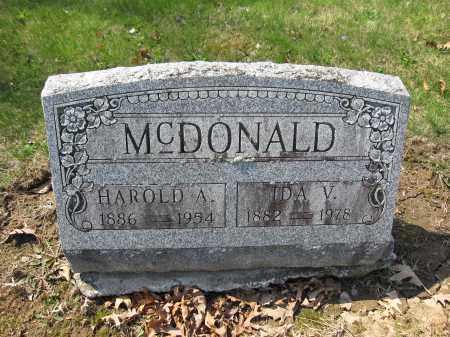 MCDONALD, HAROLD A. - Union County, Ohio | HAROLD A. MCDONALD - Ohio Gravestone Photos