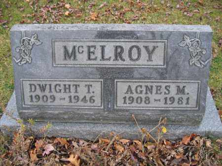 MCELROY, DWIGHT T. - Union County, Ohio | DWIGHT T. MCELROY - Ohio Gravestone Photos