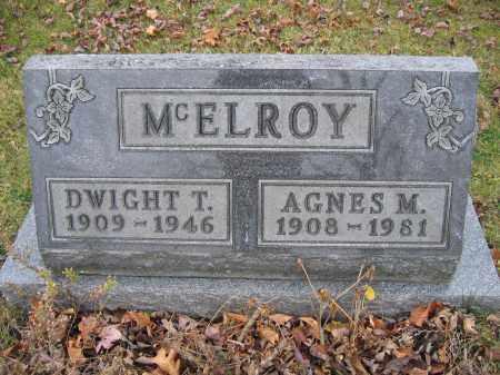 MCELROY, AGNES M. - Union County, Ohio | AGNES M. MCELROY - Ohio Gravestone Photos