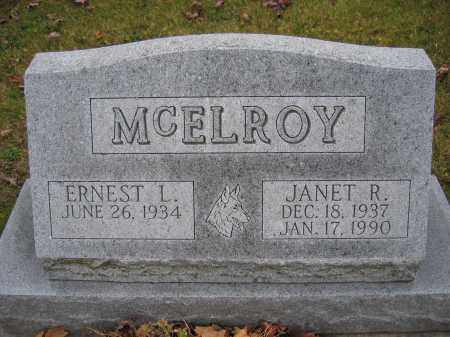 MCELROY, JANET R. - Union County, Ohio | JANET R. MCELROY - Ohio Gravestone Photos