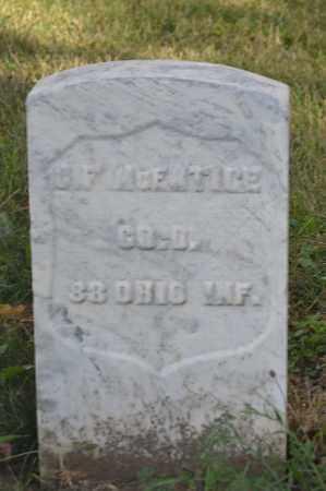 MCENTIRE, G.F. - Union County, Ohio | G.F. MCENTIRE - Ohio Gravestone Photos