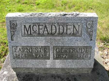 MCFADDEN, EARNEST R. - Union County, Ohio | EARNEST R. MCFADDEN - Ohio Gravestone Photos