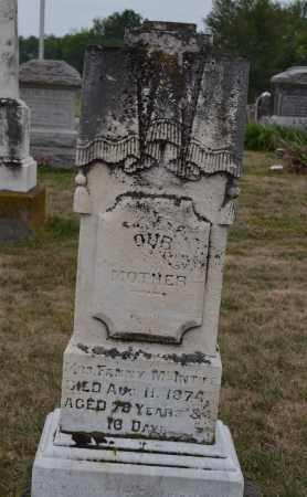 MCINTIRE, FANNY - Union County, Ohio | FANNY MCINTIRE - Ohio Gravestone Photos