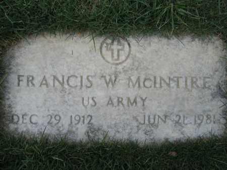 MCINTIRE, FRANCIS W - Union County, Ohio | FRANCIS W MCINTIRE - Ohio Gravestone Photos