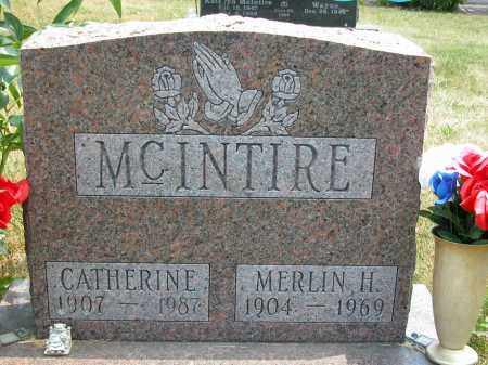 MCINTIRE, MERLIN H. - Union County, Ohio | MERLIN H. MCINTIRE - Ohio Gravestone Photos