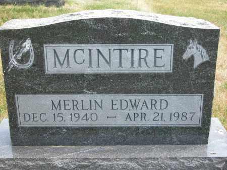 MCINTIRE, MERLIN EDWARD - Union County, Ohio | MERLIN EDWARD MCINTIRE - Ohio Gravestone Photos