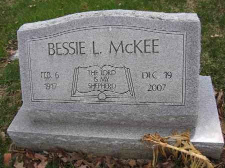 MCKEE, BESSIE L. - Union County, Ohio | BESSIE L. MCKEE - Ohio Gravestone Photos