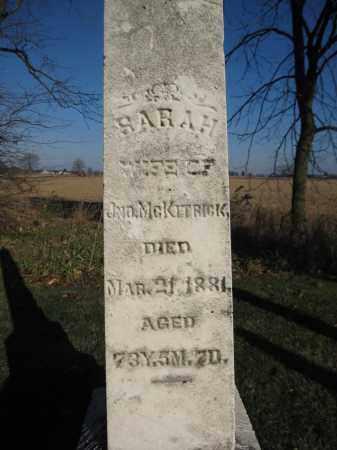 MCKITRICK, SARAH - Union County, Ohio | SARAH MCKITRICK - Ohio Gravestone Photos