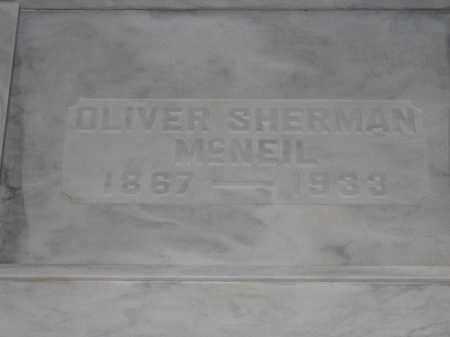 MCNEIL, OLIVER SHERMAN - Union County, Ohio | OLIVER SHERMAN MCNEIL - Ohio Gravestone Photos