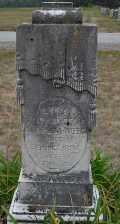 MCNIER, LORA - Union County, Ohio   LORA MCNIER - Ohio Gravestone Photos