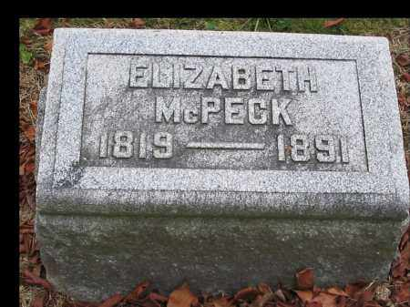 MCPECK, ELIZABETH - Union County, Ohio | ELIZABETH MCPECK - Ohio Gravestone Photos