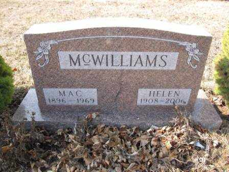 MCWILLIAMS, HELEN - Union County, Ohio | HELEN MCWILLIAMS - Ohio Gravestone Photos
