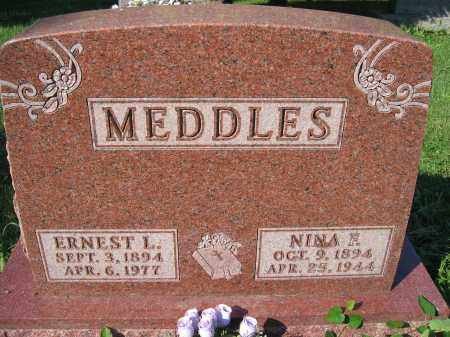 MEDDLES, NINA E. - Union County, Ohio | NINA E. MEDDLES - Ohio Gravestone Photos