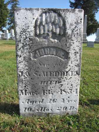 MEDDLES, JOHN W. - Union County, Ohio | JOHN W. MEDDLES - Ohio Gravestone Photos