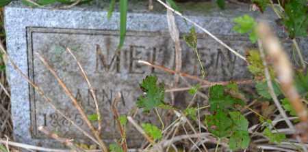MELLEN, ANNA - Union County, Ohio | ANNA MELLEN - Ohio Gravestone Photos