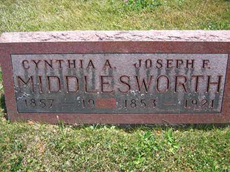 MIDDLESWORTH, CYNTHIA A. - Union County, Ohio | CYNTHIA A. MIDDLESWORTH - Ohio Gravestone Photos