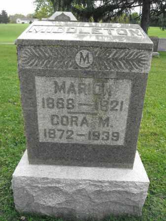 MIDDLETON, CORA - Union County, Ohio | CORA MIDDLETON - Ohio Gravestone Photos