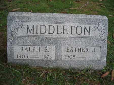 MIDDLETON, ESTHER J. - Union County, Ohio | ESTHER J. MIDDLETON - Ohio Gravestone Photos