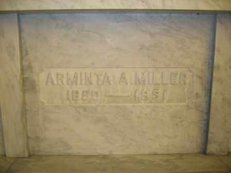 MILLER, ARMINTA A. - Union County, Ohio | ARMINTA A. MILLER - Ohio Gravestone Photos
