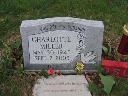 MILLER, CHARLOTTE - Union County, Ohio | CHARLOTTE MILLER - Ohio Gravestone Photos