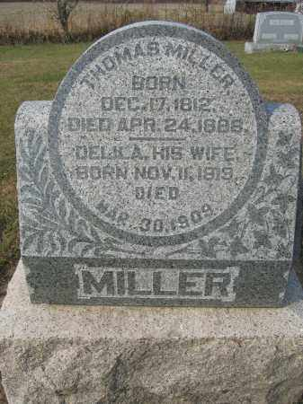 MILLER, THOMAS - Union County, Ohio | THOMAS MILLER - Ohio Gravestone Photos