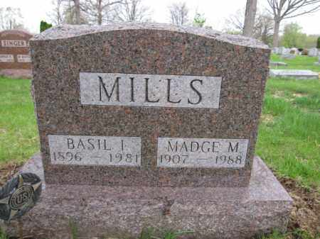 MILLS, BASIL I. - Union County, Ohio | BASIL I. MILLS - Ohio Gravestone Photos